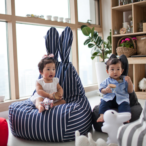 Rabito Bean Bag Limited Edition (Navy White Pinstripe) - The Rabito Shop