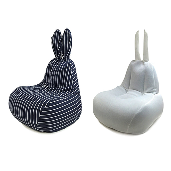 Cover for Rabito Bean Bag (Navy White Pinstripe) - The Rabito Shop