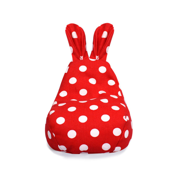 Rabito Tiny Beanbag Red White Polka - The Rabito Shop