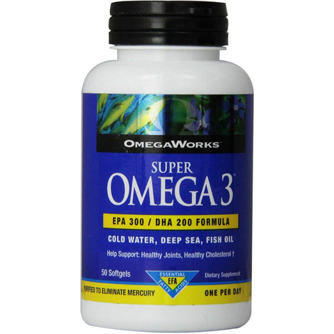OmegaWorks Super Omega 3 Softgels 50 Soft Gels (Pack of 4)
