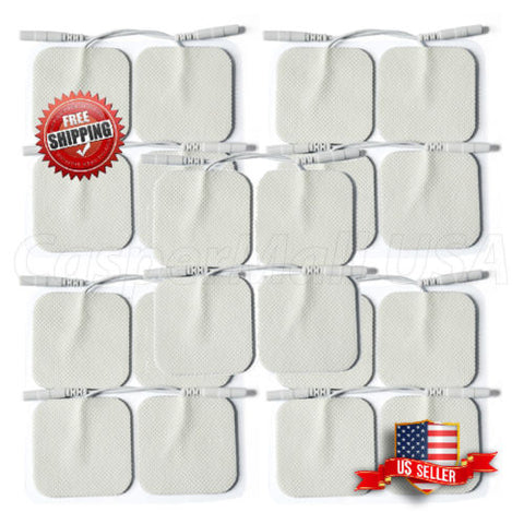 "TENS/EMS Unit 20 Electrode Pads 2""x2"" in. Reusable Self Stick Gel"