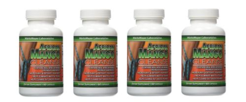 African Mango Cleanse Weight Loss Detox 60 Capsules Per Bottles (4 Bottles)