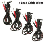 4 pcs TENS Unit Lead Wires FOR INTENSITY 10 TENS 2500 3000 EMS 7500 TWIN STIM
