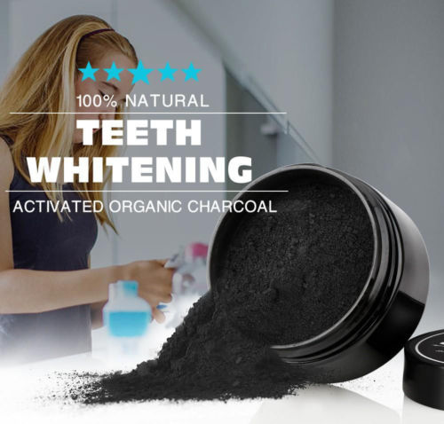 COCONUT ACTIVATED CHARCOAL 100% ORGANIC NATURAL TEETH WHITENING POWDER