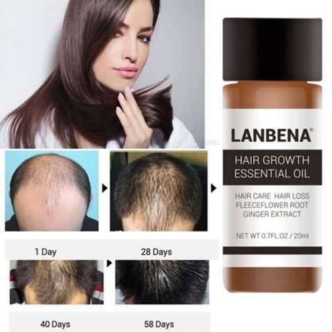 2X Hair Growth Essence Oil Fast Hair Growth Natural Hair Loss Treatment LANBENA