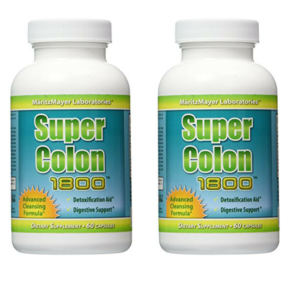 Super Colon 1800 Weight Loss Detox Cleanse Natural Acai Fruit Fennel Seeds 2 BOT
