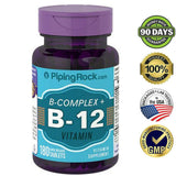 B COMPLEX PLUS VITAMIN B-12 PROTEASE NIACINAMIDE HEALTHY SUPPLEMENT 180 TABLETS