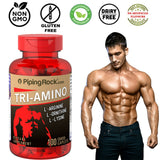 TRI-AMINO L-Arginine L-Ornithine L-Lysine Workout Stamina Supplement 100 Caplets