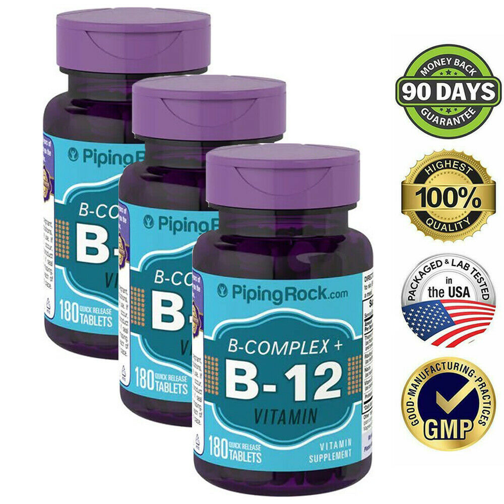 B COMPLEX PLUS VITAMIN B-12 PROTEASE NIACINAMIDE HEALTHY SUPPLEMENT 540 TABLETS