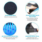Pet Grooming Glove Dog Cat Gentle Deshedding Brush Massage Hair Fur Removal Tool