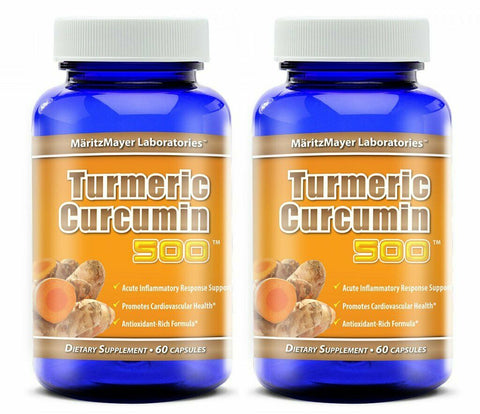 2X Turmeric Curcumin Highest Potency 95% 60 Capsules by MaritzMayer Laboratories