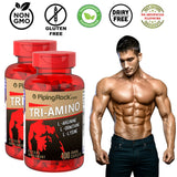 TRI-AMINO L-Arginine L-Ornithine L-Lysine Workout Stamina Supplement 200 Caplets