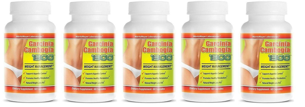 5X Garcinia Cambogia Extract 1300 60% HCA Weight Management Appetite Suppressant