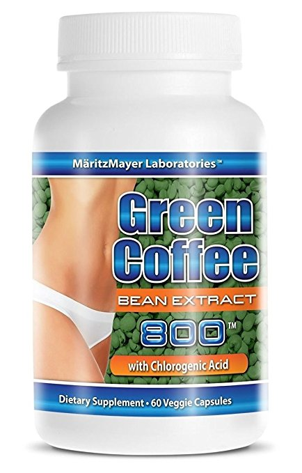 MaritzMayer Laboratories Green Coffee Bean Extract, 800 mg per Capsule, 60 Veggie Capsules (Contains Some Chlorogenic Acids)