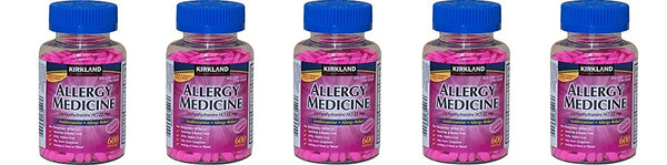 Kirkland Brand Diphenhydramine HCI 25 Mg - dLbkEj - Allergy Medicine and AntihistamineCompare to Active Ingredient of Benadryl Allergy Generic, 5 Pack (600 Count)