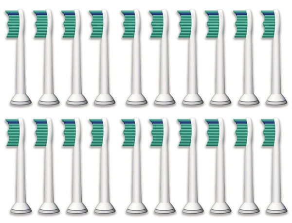 20 Philips Sonicare Compatible Toothbrush Heads Replacements HX6014 HX6013 ProResults, fits DiamondClean, EasyClean, FlexCare series, HealthyWhite, Plaque Control and Gum Health Handles