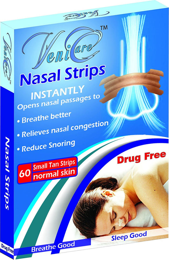 VeniCare NASAL STRIPS Reduce Snoring Right Now Relieves and Opens Nasal Passages