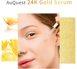 AuQuest 24K Gold Face Serum Skincare Anti Wrinkles Moisturing Whitening Cosmetics Skin Lifting Essence for Face Care 15ml