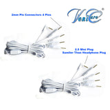 4 PCS ELECTRODE LEAD WIRES - Cables for Digital Massager TENS 2.5 mm with 4 pins