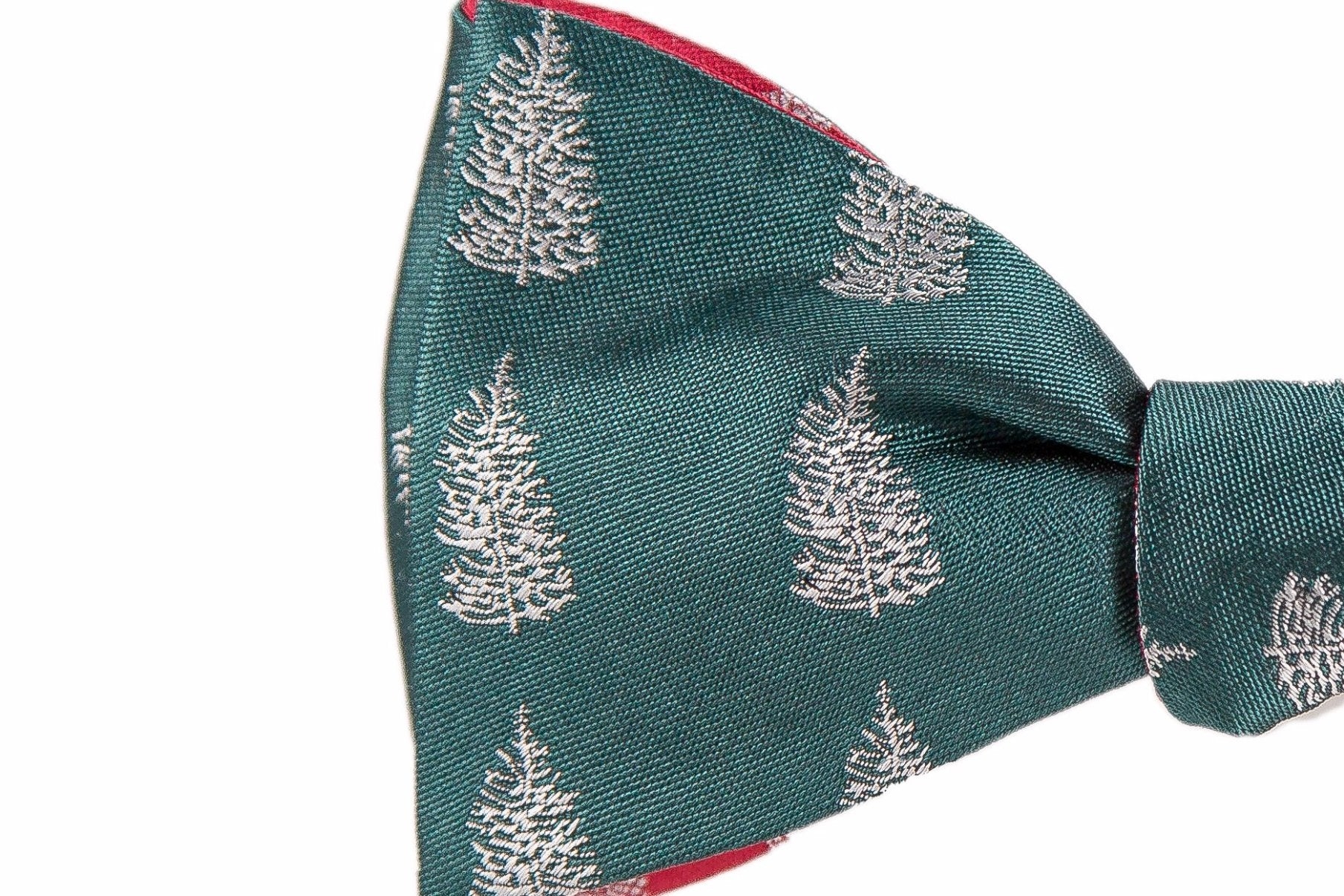 Reversible Christmas Pine Tree Holiday Bow Tie