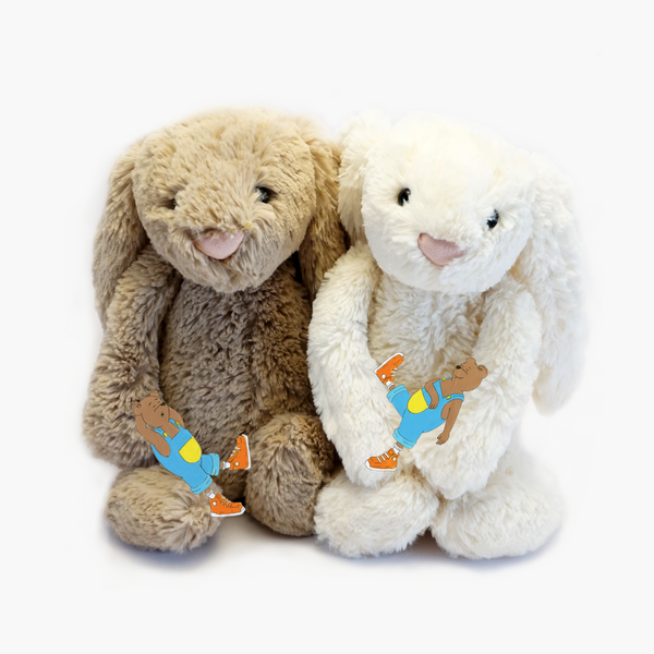 Soft and Cuddly Jellycat bunnies with the bears