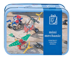 Mini mechanic toy in a tin