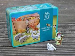 Noah's ark toy in a tin