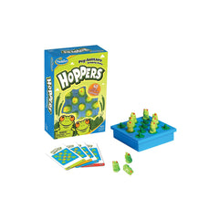 Thinkfun Hoppers Game showing box and contents