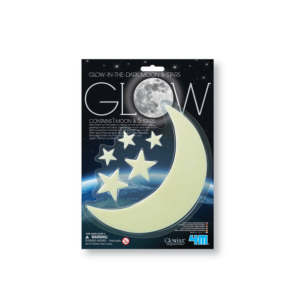 Glow in the Dark Moon and Stars - FREE DELIVERY - Toys will be Toys