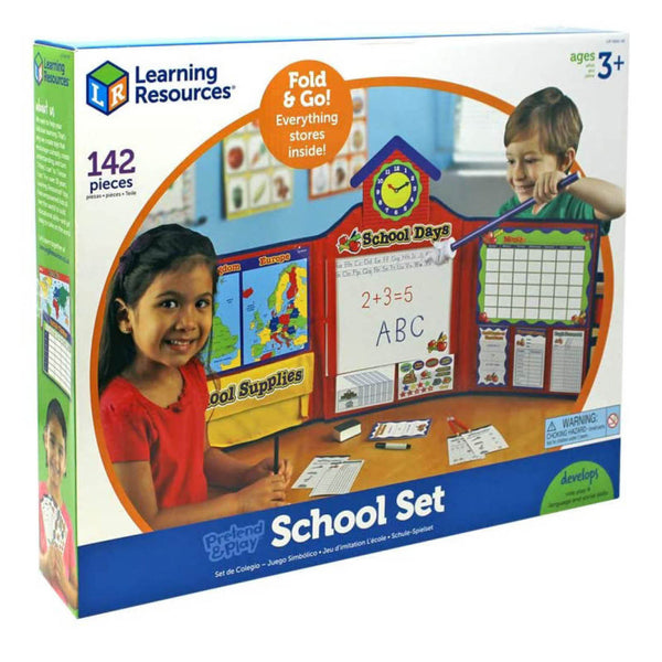 pretend school set in box