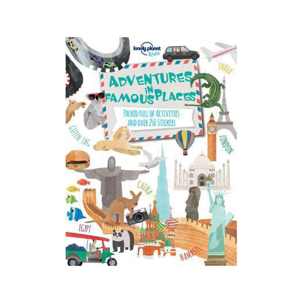 Adventures in Famous Places Activity Book - FREE DELIVERY - Toys will be Toys