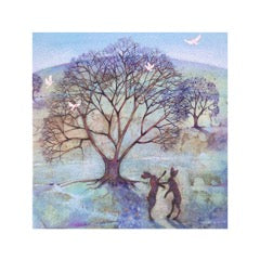 Greetings Card Boxing Hares - FREE DELIVERY - Toys will be Toys