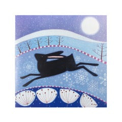 Greetings Card Running black hare - FREE DELIVERY - Toys will be Toys