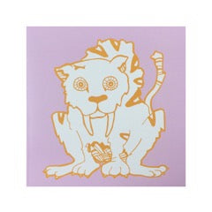 Greetings Card Sabre-toothed Cat - FREE DELIVERY - Toys will be Toys