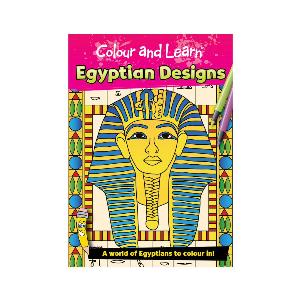 Ancient Egyptian Design Colouring Book - FREE DELIVERY - Toys will be Toys