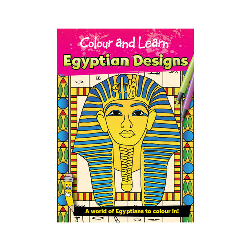 Egyptian Designs Book - Colour & Learn