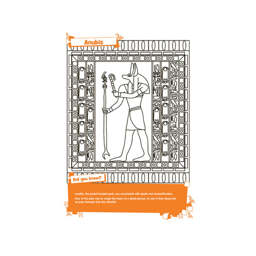 Egyptian Designs Book - Colour & Learn inside image