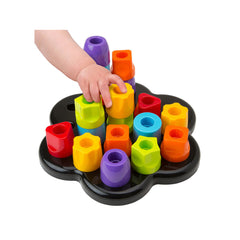 Tots first chunky pegs being used by a child
