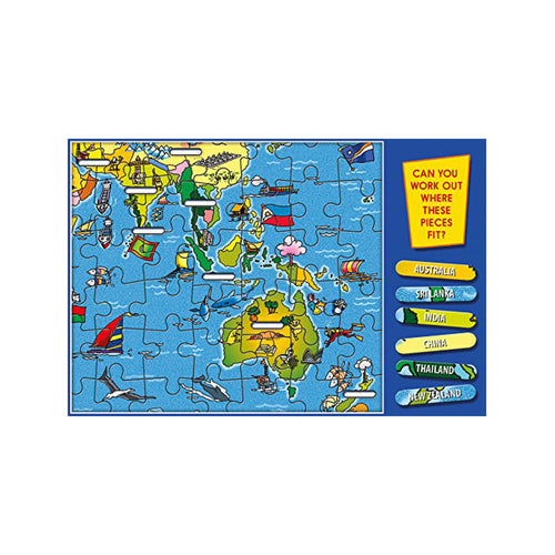World Map Jigsaw Puzzle - Toys will be Toys