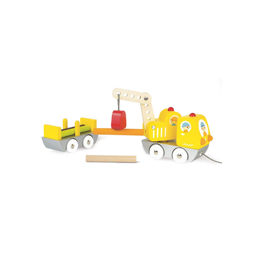 Wooden Truck with a Crane