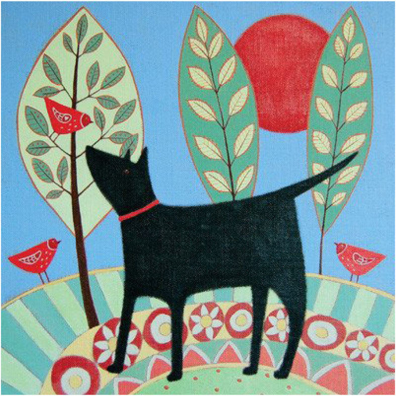 Greetings Card Dog with Trees - FREE DELIVERY - Toys will be Toys