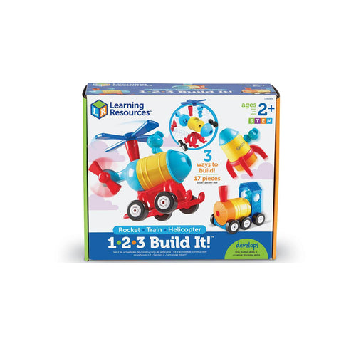 1-2-3 Build it! Rocket-Train-Helicopter - Toys will be Toys