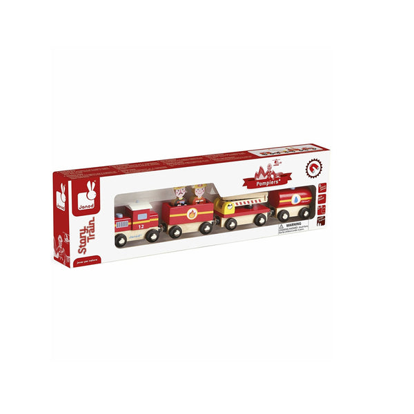 wooden train in box