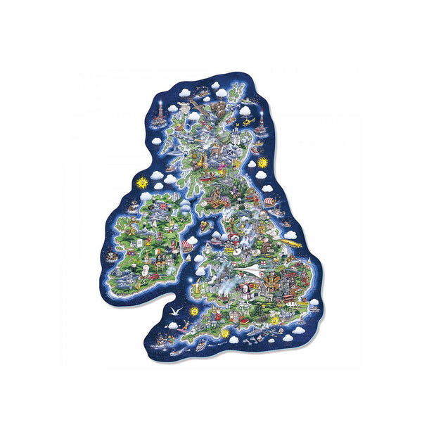 Britain and Ireland Map Jigsaw Puzzle - Toys will be Toys