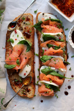 Chef's Satchel smoked salmon toast