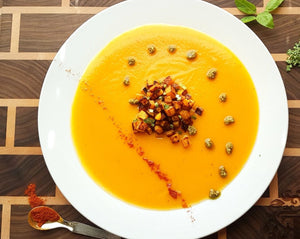 roasted squash soup chef's satchel