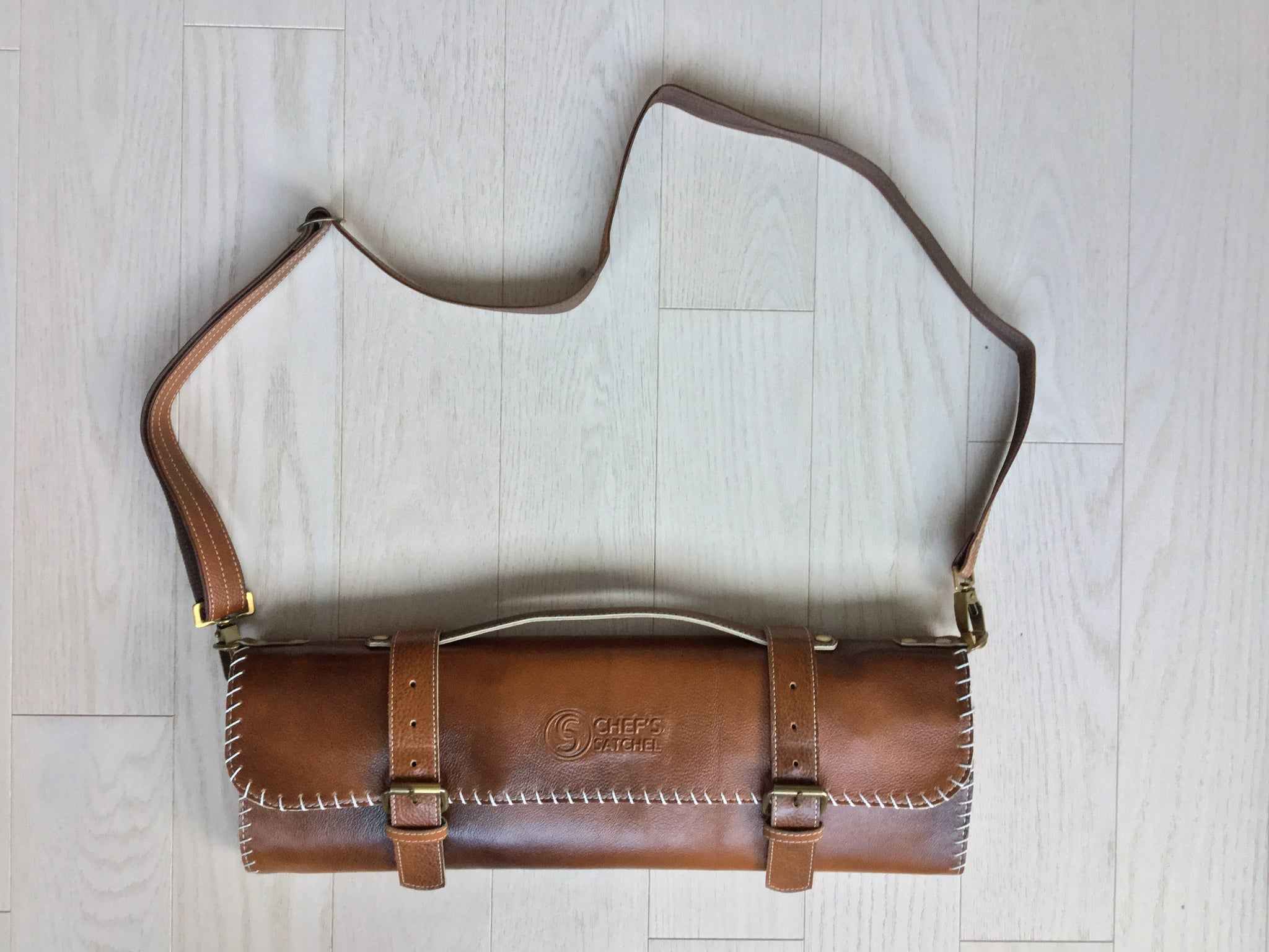 Chef's Satchel handmade leather knife roll