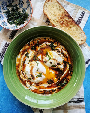 Chef's Satchel's Eggciting new breakfast - 'Çılbır' / Turkish Poached eggs