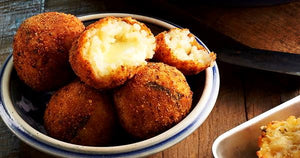 Arancini risotto. Crispy balls of goodness.