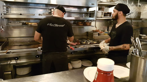 Behind the scenes at au cheval